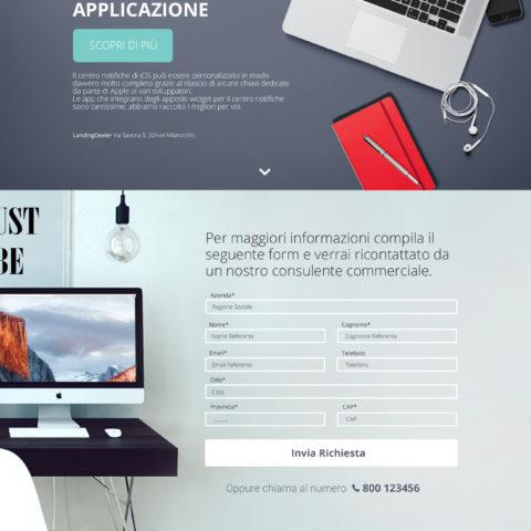 esempi landing page